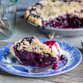 Blueberry crumble pie-2