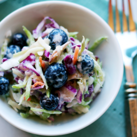 Blueberry-coleslaw