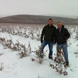 Cort brazelton dick mombell in snow east wa liberty field 2011-2