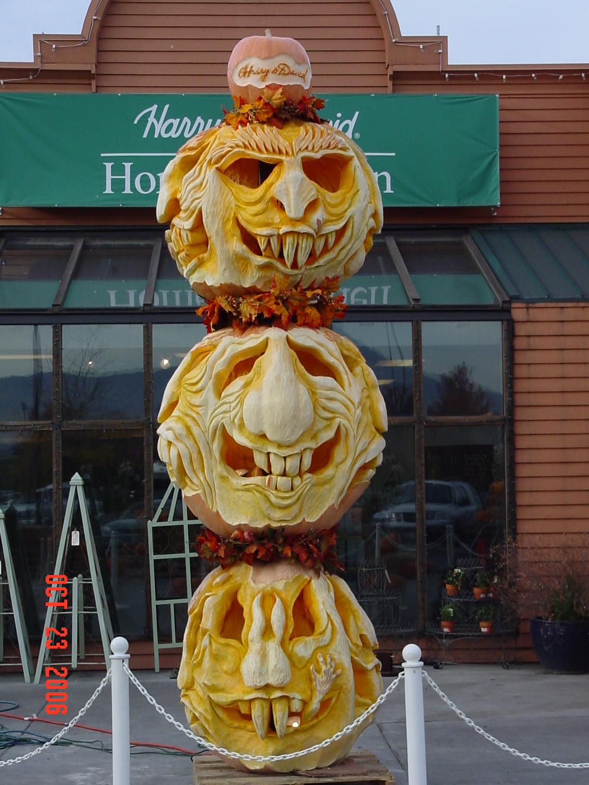 Pumpkin Totem Pole