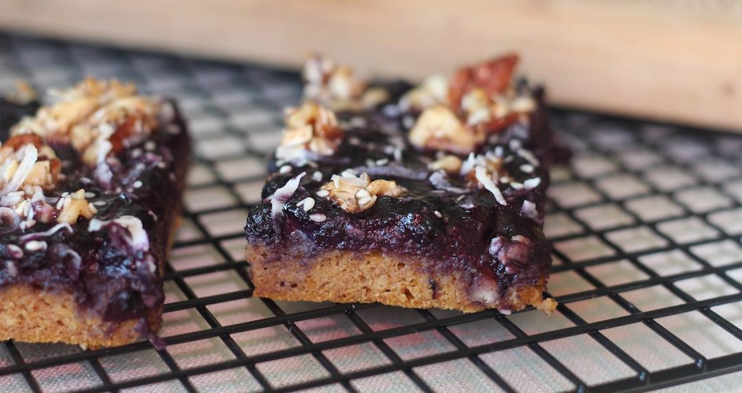 Blueberry Pumpkin Muffin Breakfast Bars